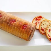 Cherry Nut Cylinder Roll Close Up