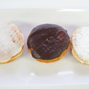 Filled Donuts Close Up